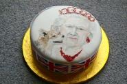 Queen's jubilee cake