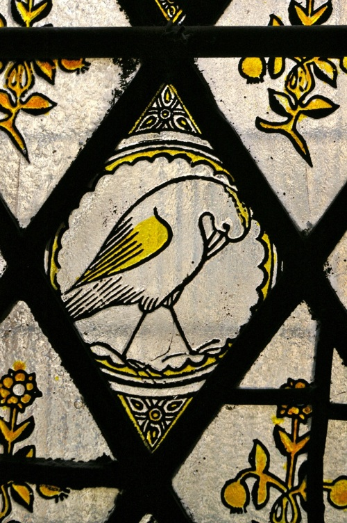 stained glass at Tyntesfield