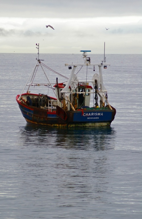 fishing boat in Lyme Bay