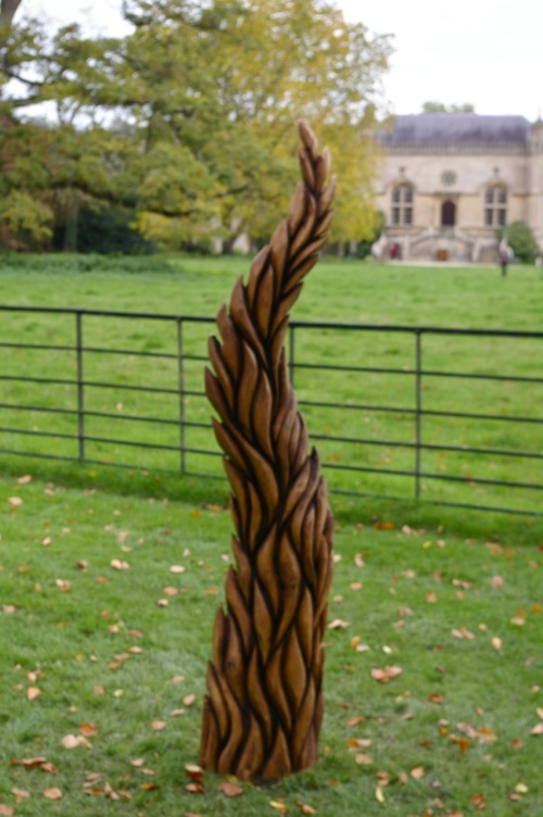 wooden sculpture trail at Lacock