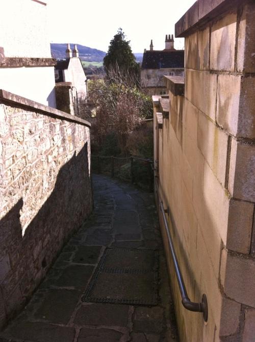 down the path to Batheaston